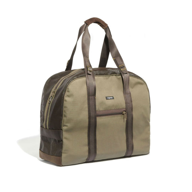 Mesh Panel Airline-Approved Dog Carrier in Olive and Brown - This Dog's Life