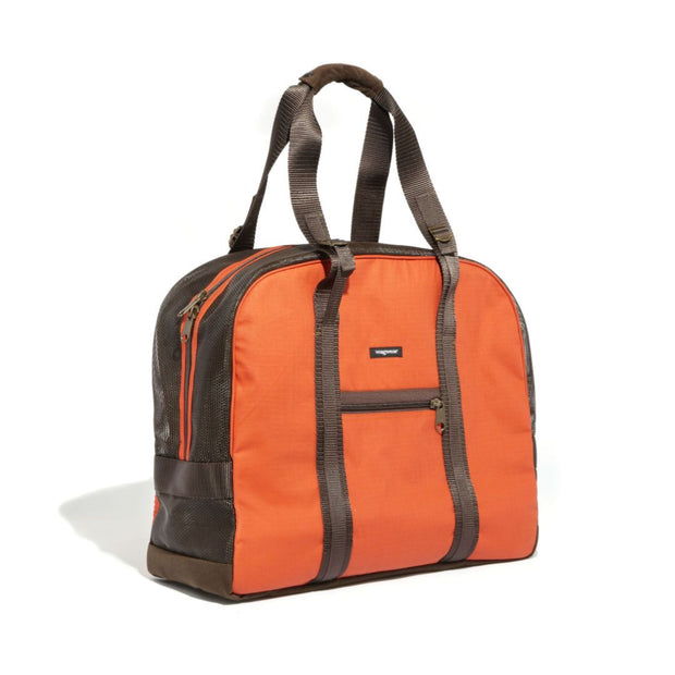 Mesh Panel Airline-Approved Dog Carrier in Orange and Brown - This Dog's Life