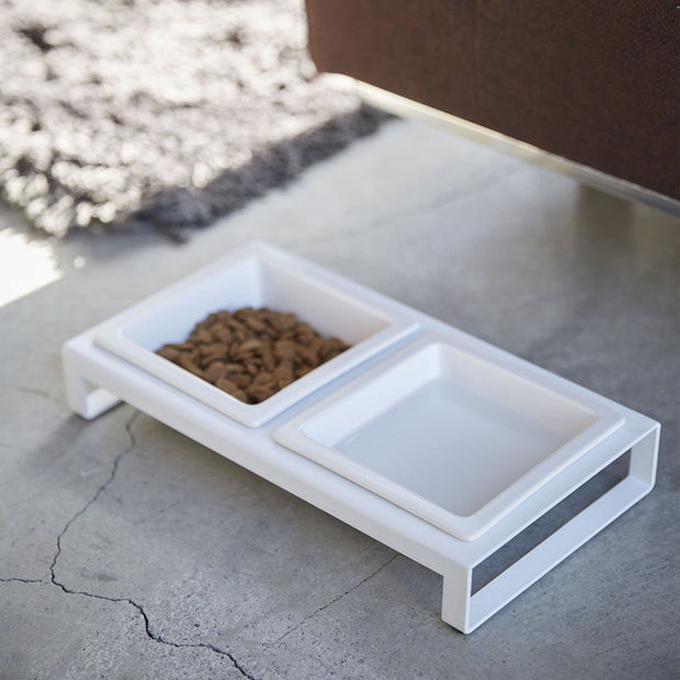 Modern Tip-Proof Dog Bowls in White - This Dog's Life