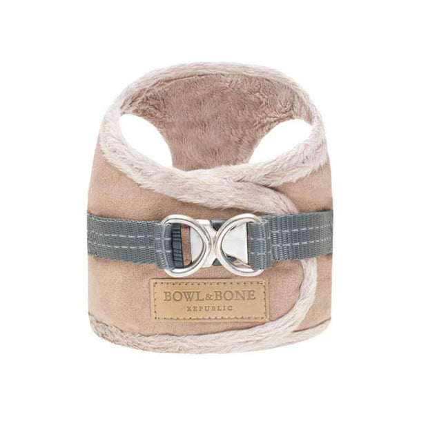 Faux-Fur Lined Cozy Harness in Tan