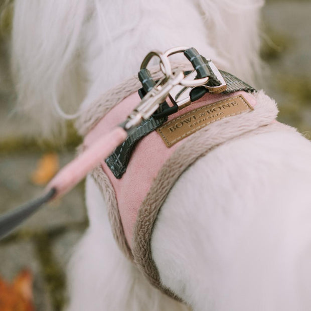 Faux-Fur Lined Cozy Harness in Rose