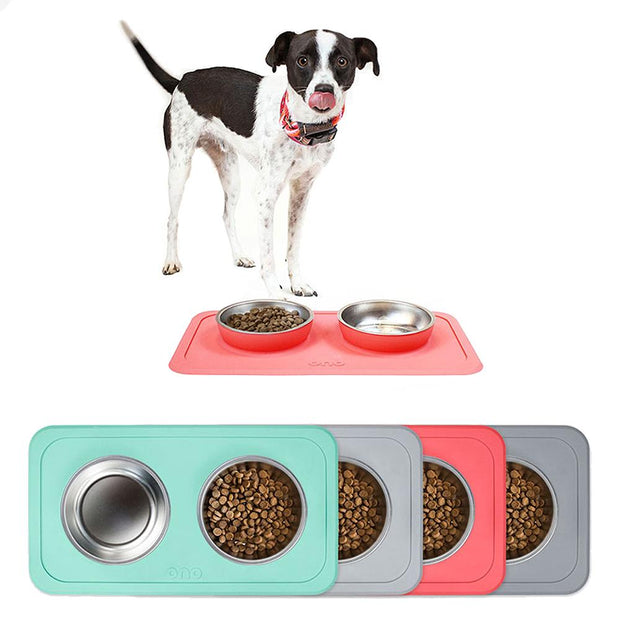All-in-One Non-Slip Dog Bowl in Mint