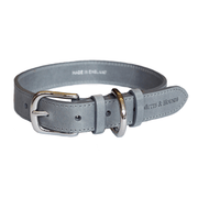 Gray Italian Leather Dog Collar - This Dog's Life