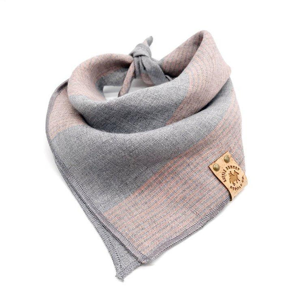 Stonewashed Linen Heather Gray and Soft Pink Bandana