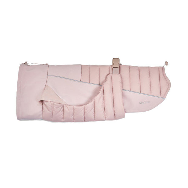 High-Performance Quilted Dog Jacket in Blush Pink