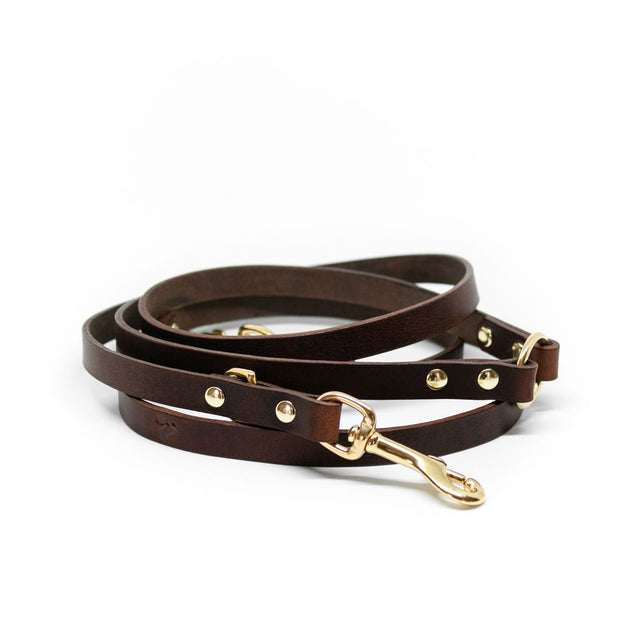 The Essential 5-in-1 Leather Leash in Tan - This Dog's Life