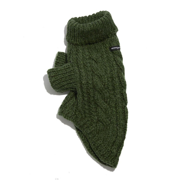 Wool Dog Sweater in Pine Green - This Dog's Life