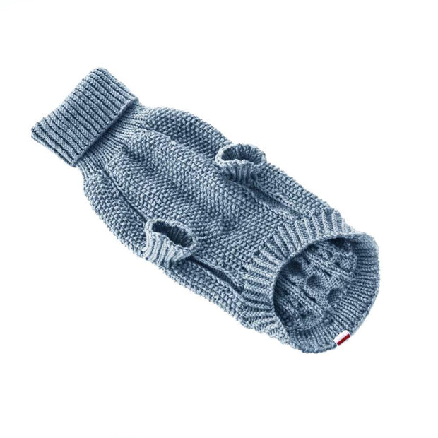 Hand-Knit Wool Dog Sweater in Slate - This Dog's Life