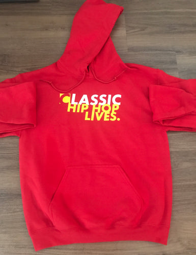 Classic Hip Hop Lives Hoodie (True Red)