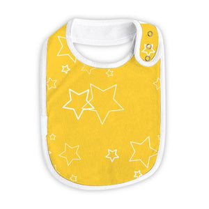 Large Absorbent Cotton Baby Drool Bibs, 4-Pack (wholesale)