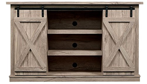 Comfort Smart Wrangler Sliding Barn Door TV Stand, Ashland Pine