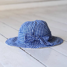 Bruno's Originals Blue/White Check Hat with Tie