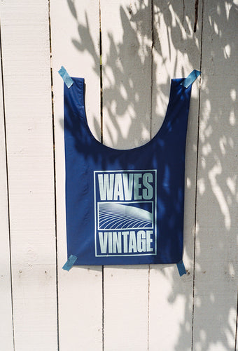 Waves Tote - Royal Blue