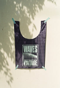 Waves Tote - Green Gingham
