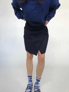 The Navy Wool Wrap