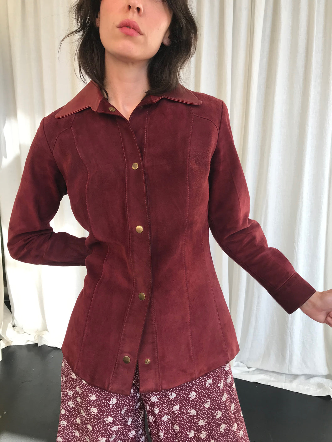 Boysenberry Suede Jacket