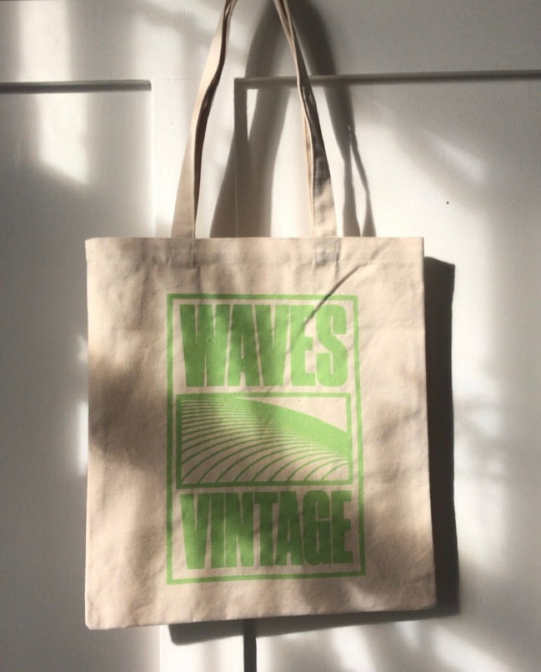 Canvas Tote - Lime Print