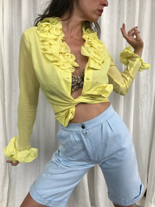 Yellow Frou Frou Shirt