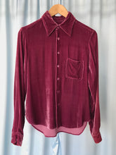 The Grape Velvet Shirt
