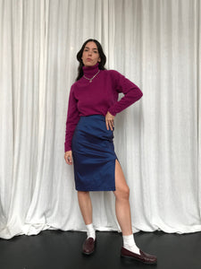 Purple Shine Pencil Skirt