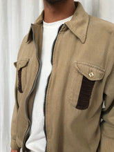 Beige Cord Detail Jacket