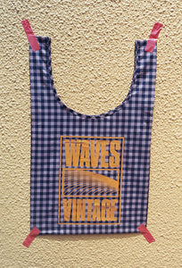 Waves Tote - Copper Gingham