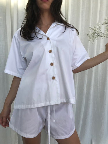 White Pyjama Set Shirt