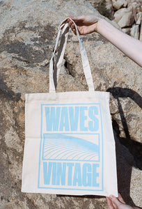 Waves Tote Blue