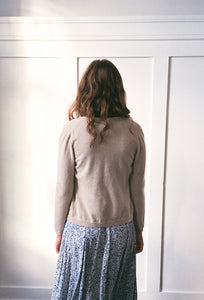 Oatmeal Cashmere Cardigan