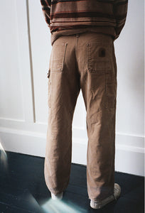 Flannel Lined Brown Carhartt Painter Pant 30""