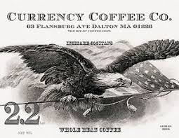 Currency Coffee Eagle Logo