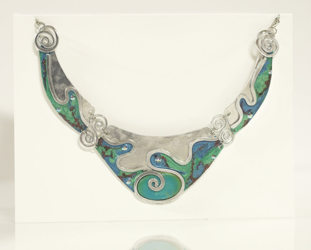 Hand Painted 3-Piece Necklace