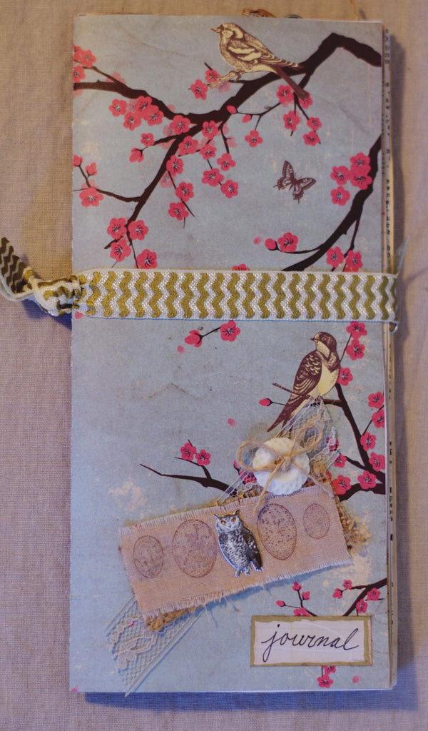 Handcrafted Note Book - Birds