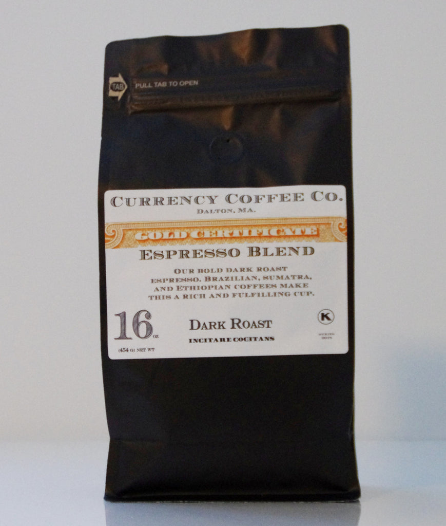 Currency Coffee - Espresso Blend WHOLE BEAN