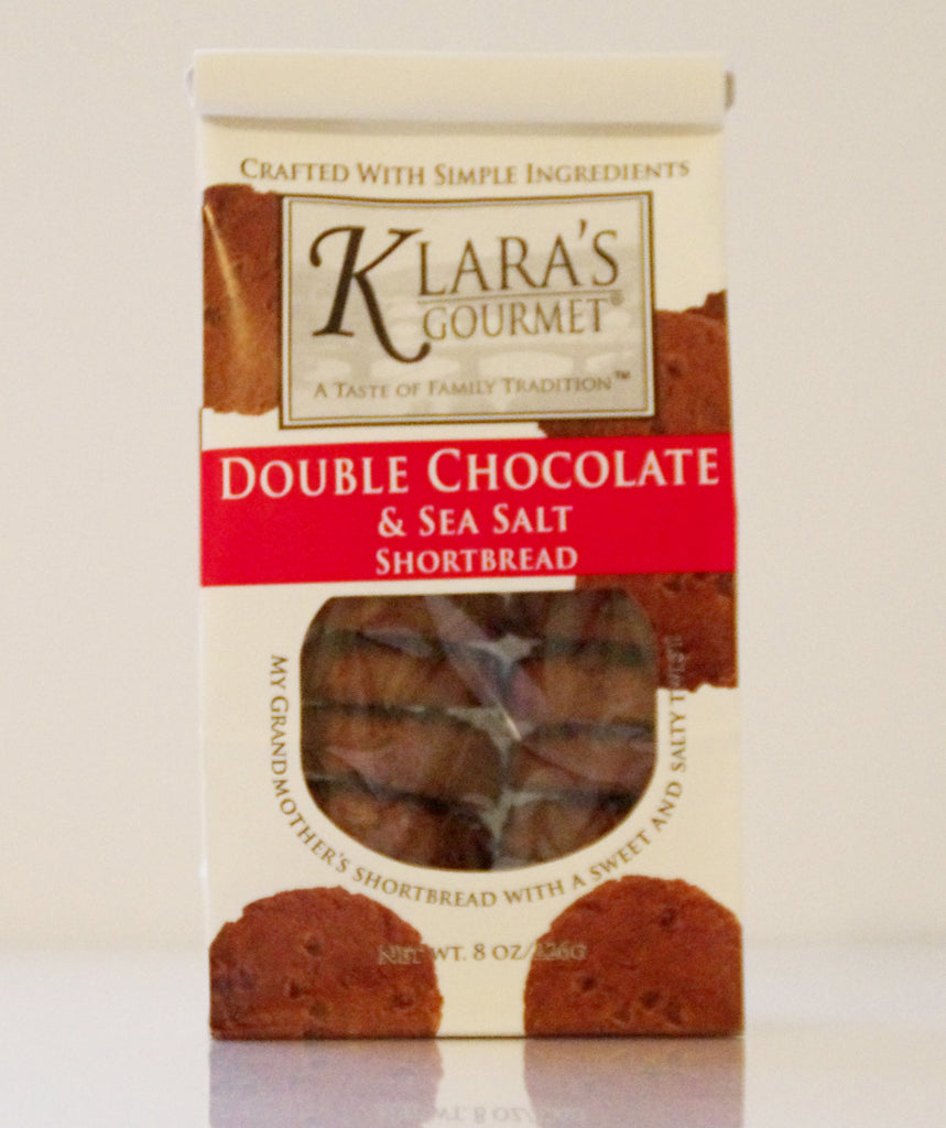 Klara's Double Chocolate and Sea Salt Shortbread Cookies