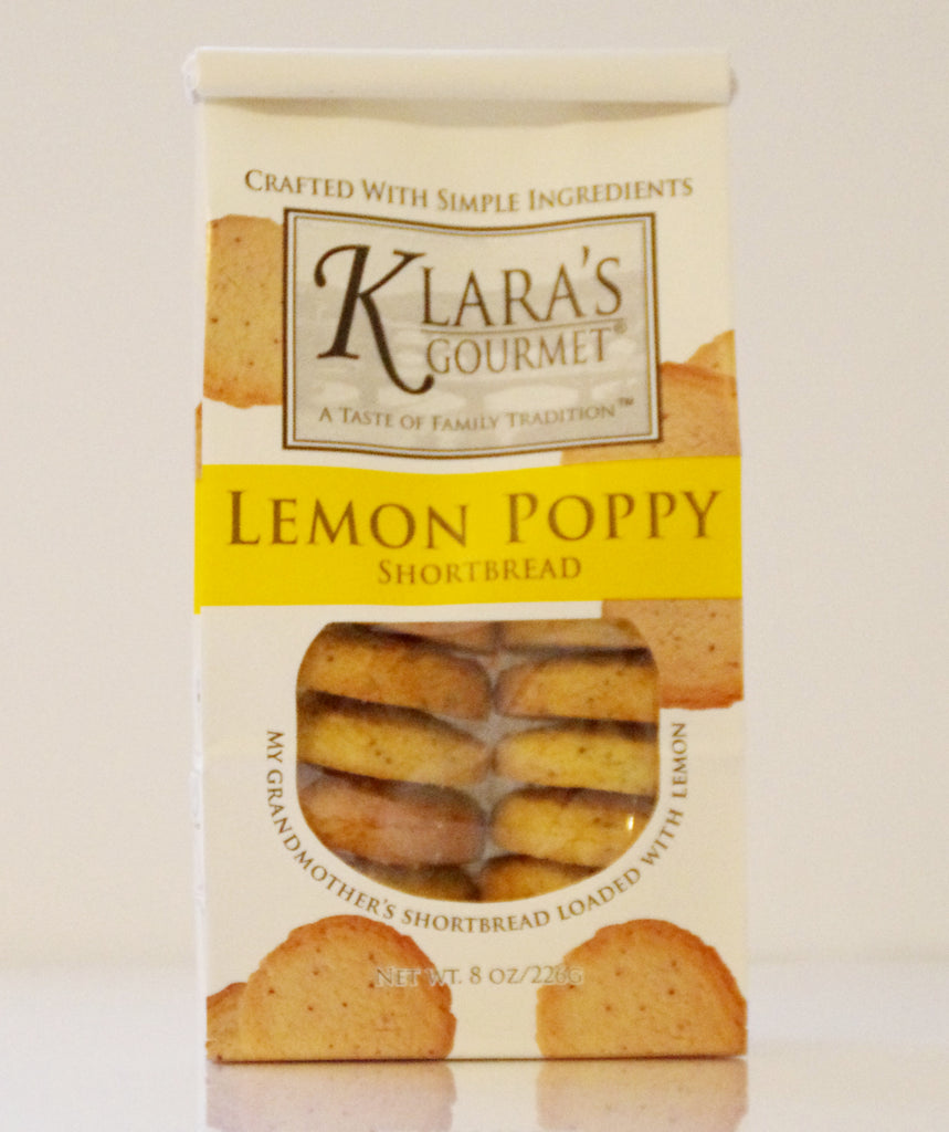 Klara's Lemon Poppy Shortbread Cookies
