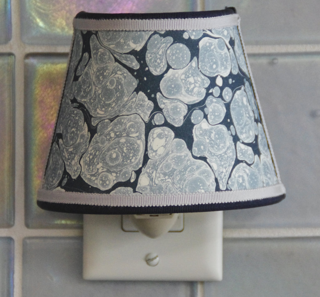 Marbled Paper Nightlight - Blue Tones