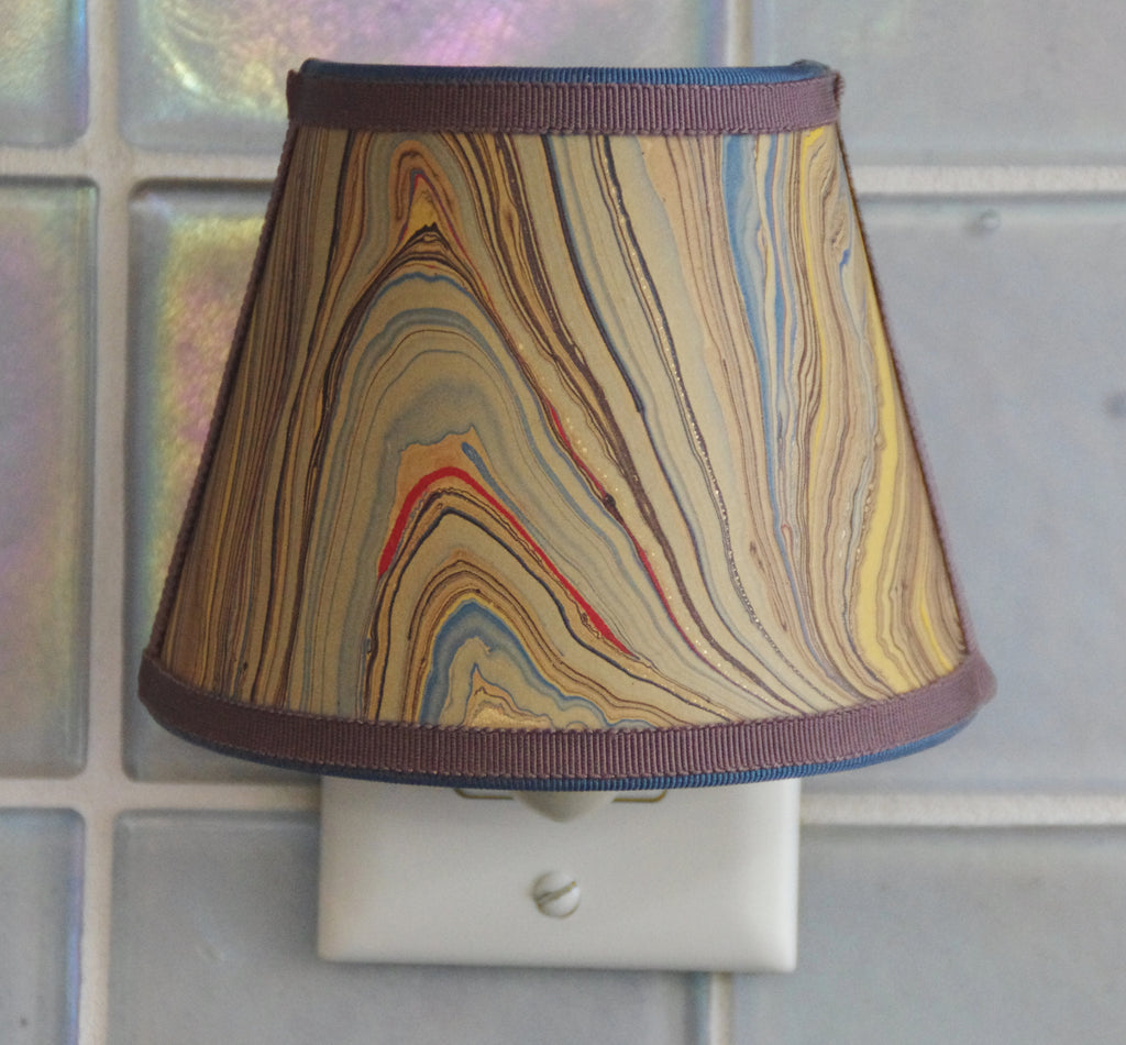 Marbled Paper Nightlight - Multiple Tones