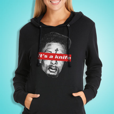 21 Savage Its A Knife Face Women'S Hoodie