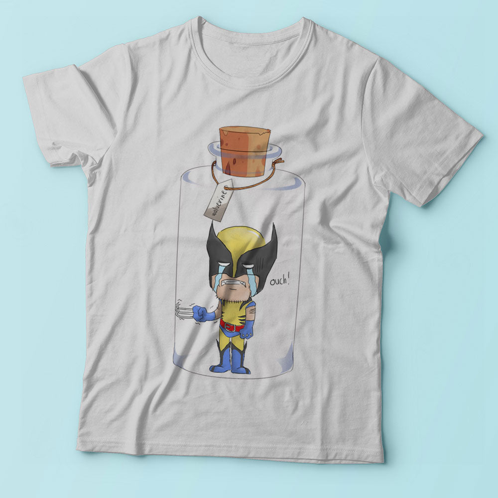 Bottled Super Hero Wolverine Funny Crying Men'S T Shirt