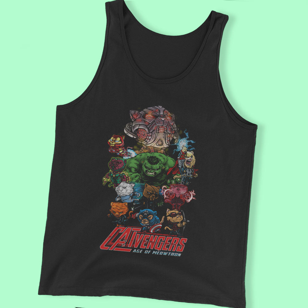 Catvengers The Age Of Meowtron Men'S T Shirt