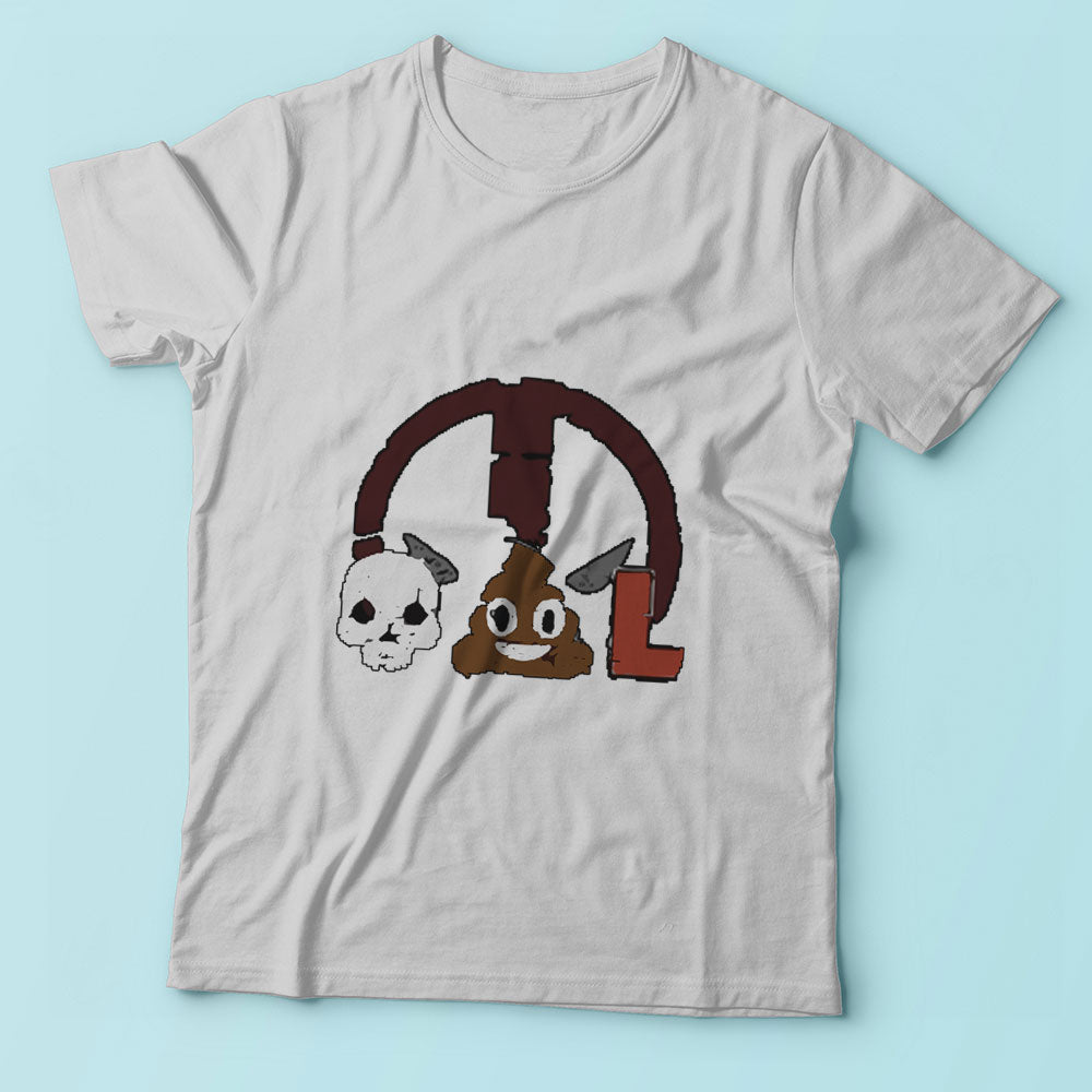 Deadpool Emoji Funny Skull Poop L Men'S T Shirt