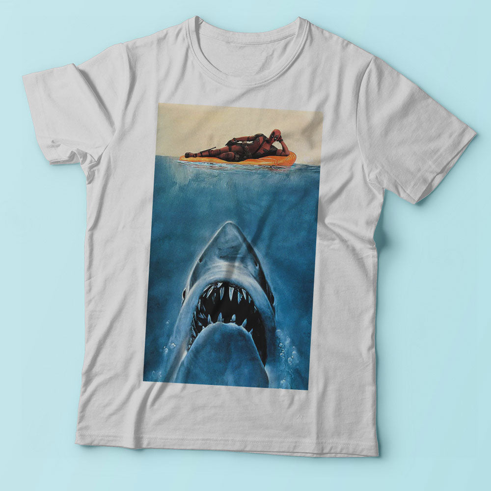 Deadpool Funny Parody Jaws Movie Men'S T Shirt