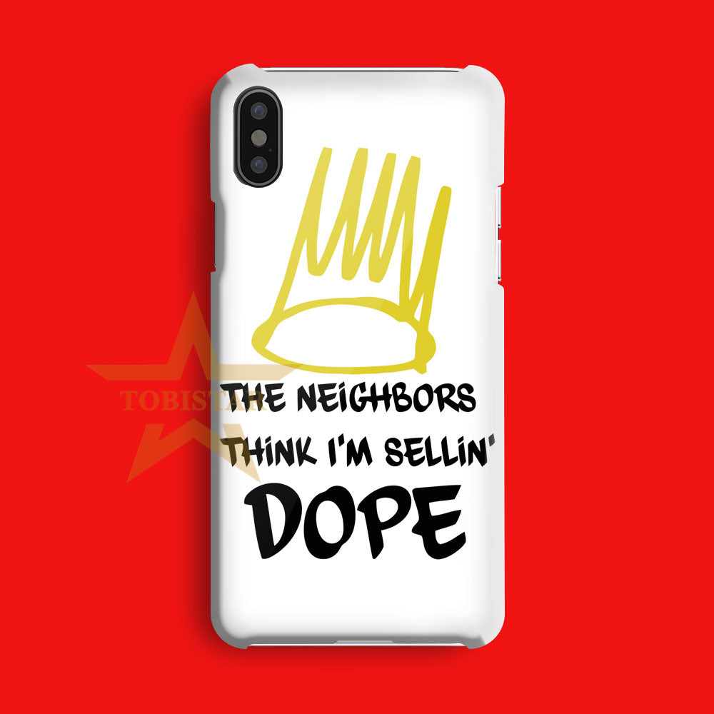 J Cole 4 Your Eyez Only quotes iPhone X Case
