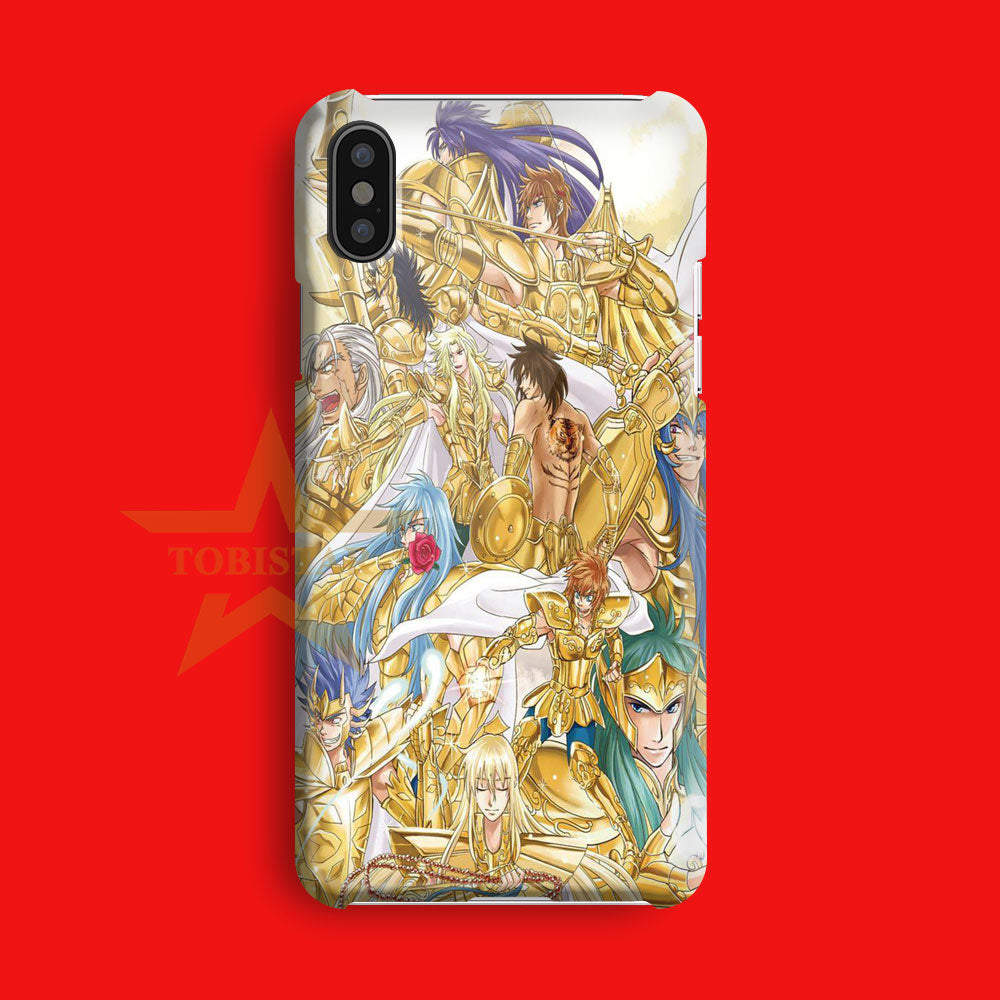all gold saint santuary iPhone X Case