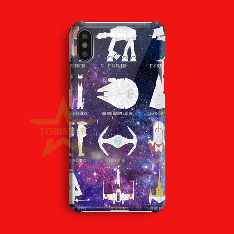 all plane star wars type iPhone X Case