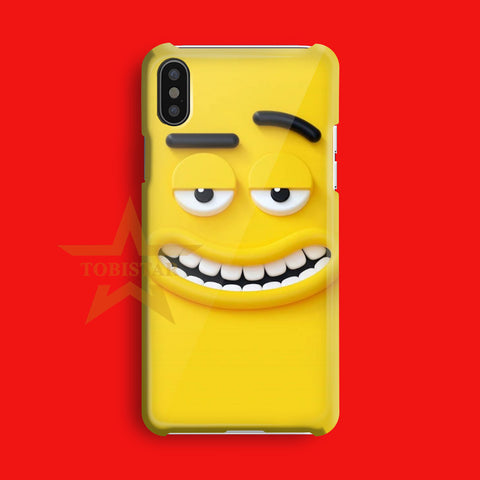 animation face larva yellow iPhone X Case