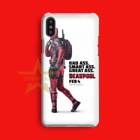 bad ass smart ass great ass deadpool iPhone X Case
