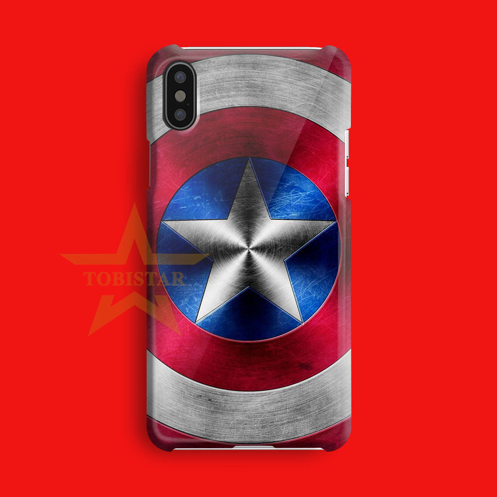 captain america shield  iPhone X Case