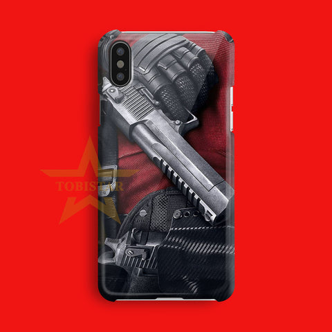 deadpool hero crazy iPhone X Case
